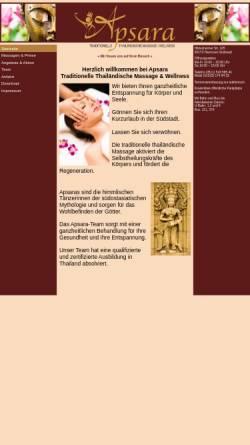 Vorschau der mobilen Webseite www.apsara-hannover.de, Apsara Thailändische Massage und Wellness