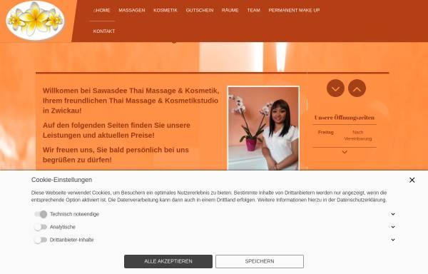 Vorschau von kosmetikstudio-zwickau.de, Sawasdee Thai Massage und Kosmetik