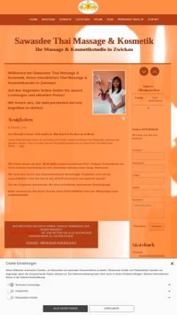 Vorschau der mobilen Webseite kosmetikstudio-zwickau.de, Sawasdee Thai Massage und Kosmetik