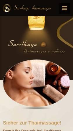 Vorschau der mobilen Webseite sarithaya.de, Sarithaya Art and Sense