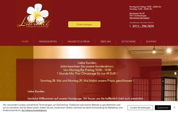 Vorschau von www.lavadee-thaimassage.de, Lavadee Thaimassage