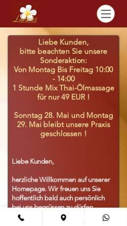 Vorschau der mobilen Webseite www.lavadee-thaimassage.de, Lavadee Thaimassage