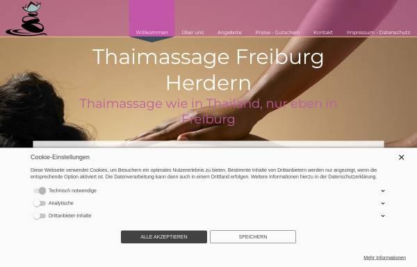 Vorschau von www.freiburger-thaimassage-herdern.de, Freiburger Thai Massage Herdern