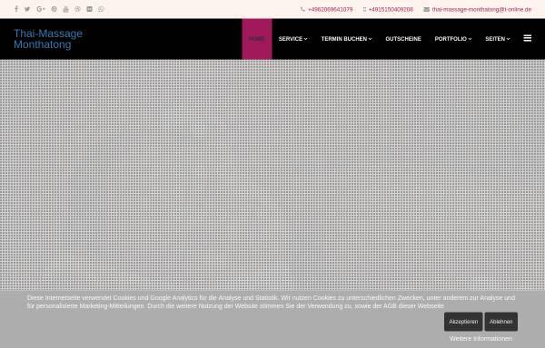 Vorschau von www.thaimassage-monthatong.de, Thai-Massage Monthatong