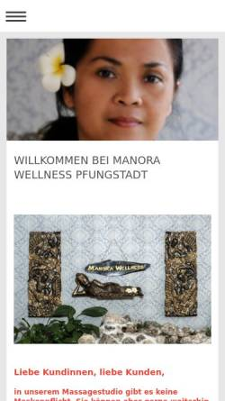 Vorschau der mobilen Webseite manora-wellness.de, Manora Wellness Pfungstadt
