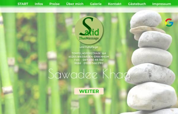 Vorschau von www.salid-thaimassage.de, Salid Thai Massage