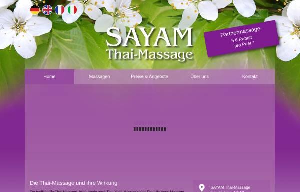 Vorschau von sayam-massage-freiburg.de, Sayam Thai Massage