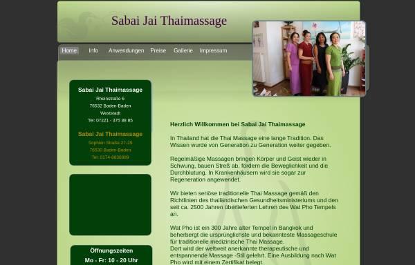 Vorschau von www.sabaijai-thaimassage.de, Sabai Jai Thaimassage