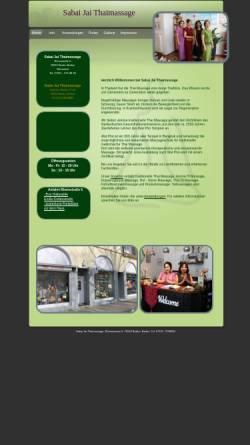 Vorschau der mobilen Webseite www.sabaijai-thaimassage.de, Sabai Jai Thaimassage