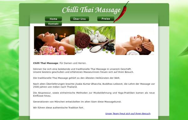 Vorschau von www.chillithaimassage.at, Chilli Thai Massage