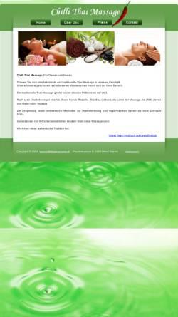 Vorschau der mobilen Webseite www.chillithaimassage.at, Chilli Thai Massage
