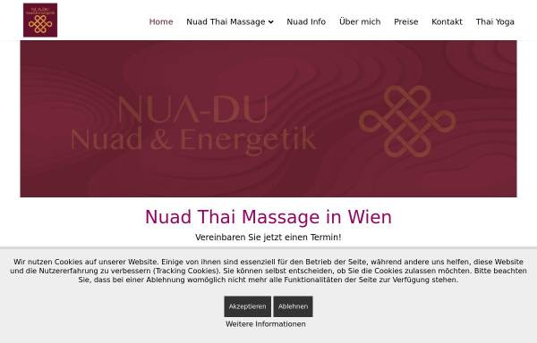 Vorschau von www.nua-du.at, Nua-Du Traditionelle Nuad Thai Massage