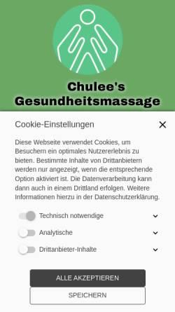 Vorschau der mobilen Webseite www.chulees-gesundheitsmassage.at, Chulee's Gesundheitsmassage