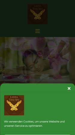 Vorschau der mobilen Webseite www.lannathaispa.at, Lanna Thai Spa