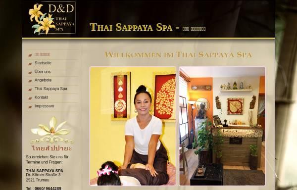 Vorschau von www.thaimassagespa.at, Thai Sappaya Spa