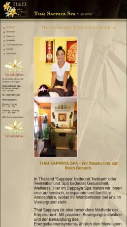 Vorschau der mobilen Webseite www.thaimassagespa.at, Thai Sappaya Spa