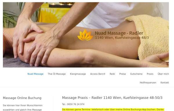 Vorschau von www.nuad-massage.at, Nuad Massage Praxis