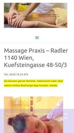Vorschau der mobilen Webseite www.nuad-massage.at, Nuad Massage Praxis