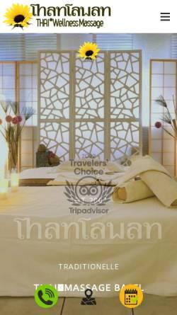 Vorschau der mobilen Webseite www.thaimassagen-basel.ch, ThanTawan HealthCare