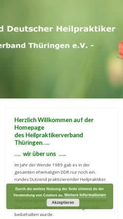 Vorschau der mobilen Webseite www.heilpraktikerverband-thueringen.de, Heilpraktikerverband Thüringen e.V.