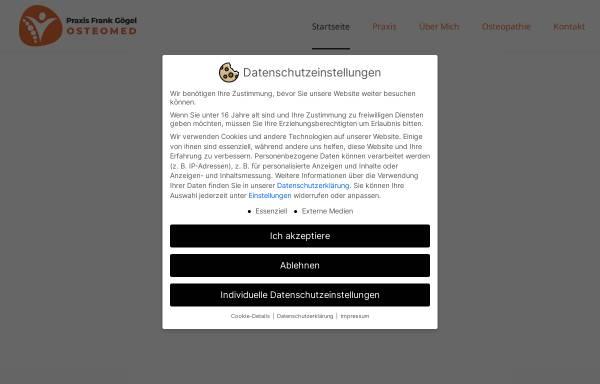 Vorschau von www.osteo-med.com, Frank Gögel