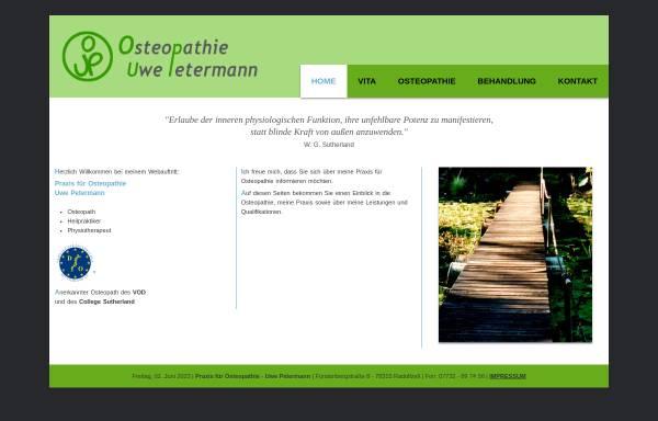 Vorschau von www.petermann-osteopathie.de, Praxis für Osteopathie Uwe Petermann