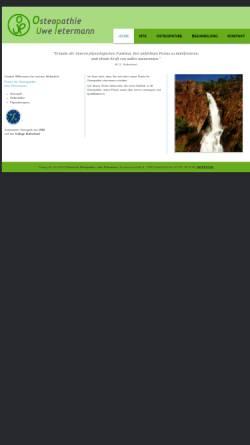 Vorschau der mobilen Webseite www.petermann-osteopathie.de, Praxis für Osteopathie Uwe Petermann