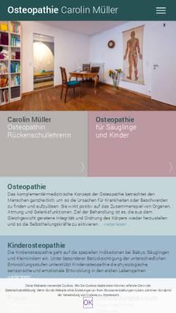 Vorschau der mobilen Webseite www.osteopathie-konstanz.eu, Carolin Müller