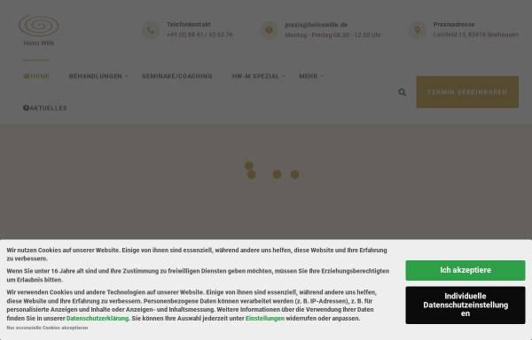 Vorschau von www.heinowille.de, Heilpraxis Heino Wille Osteopath D.O.