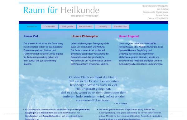 Vorschau von www.osteopathie-praxis.de, Naturheilpraxis für Osteopathie Jan H. Schaa