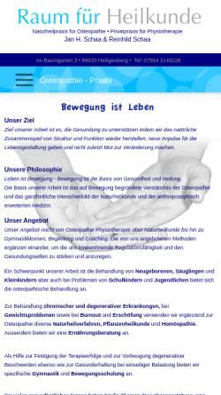 Vorschau der mobilen Webseite www.osteopathie-praxis.de, Naturheilpraxis für Osteopathie Jan H. Schaa
