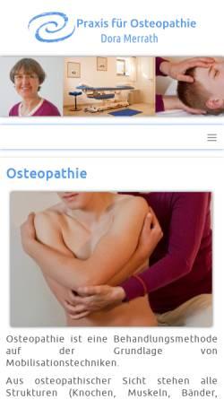 Vorschau der mobilen Webseite www.osteopathie-muenchen-ost.de, Dora Merrath