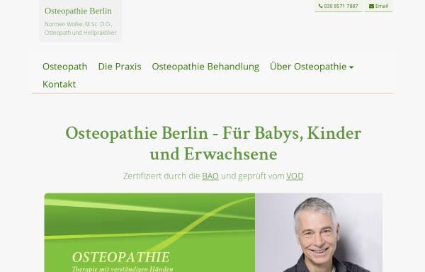 Vorschau von www.osteopathie-berlin-wolke.de, Osteopathie Praxis Berlin