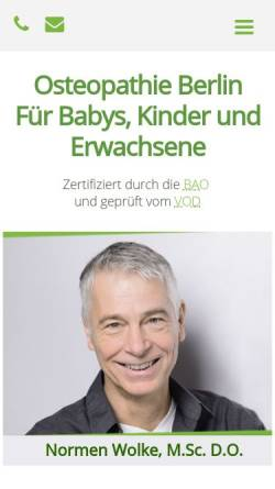 Vorschau der mobilen Webseite www.osteopathie-berlin-wolke.de, Osteopathie Praxis Berlin