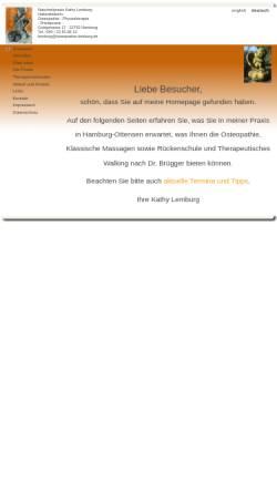 Vorschau der mobilen Webseite www.osteopathie-lemburg.de, Naturheilpraxis Kathy Lemburg