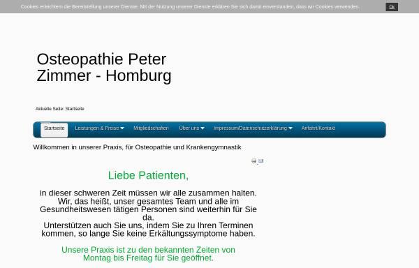 Vorschau von peter-zimmer-osteopathie.de, Praxis für Krankengymnastik und Osteopathie Peter Zimmer
