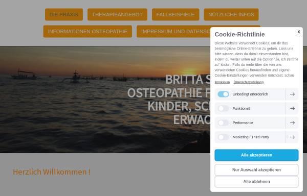 Vorschau von www.osteopathie-scherer.de, Praxis für Osteopathie Britta Scherer