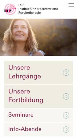 Vorschau der mobilen Webseite www.therapeut-in.ch, Interessengemeinschaft IKP