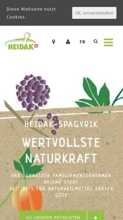 Vorschau der mobilen Webseite www.heidak.ch, Heidak AG