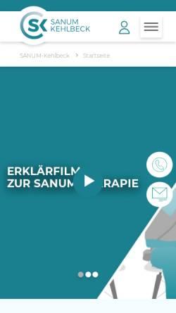 Vorschau der mobilen Webseite www.sanum.com, Sanum-Kelhbeck GmbH & Co.KG