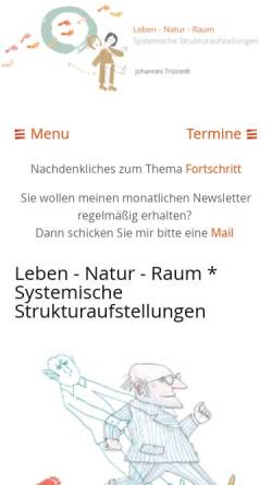 Vorschau der mobilen Webseite www.truestedt.com, Leben - Natur - Raum