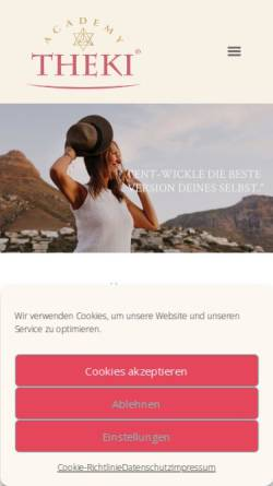 Vorschau der mobilen Webseite www.theki.eu, Sandra Weber