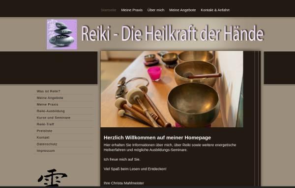 Vorschau von www.reiki-kann-helfen.de, Christa Mahlmeister