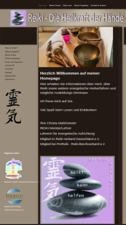 Vorschau der mobilen Webseite www.reiki-kann-helfen.de, Christa Mahlmeister