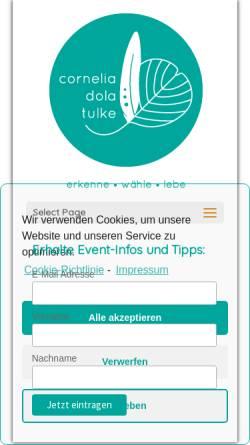 Vorschau der mobilen Webseite cornelia-tulke.de, Conny Tulke