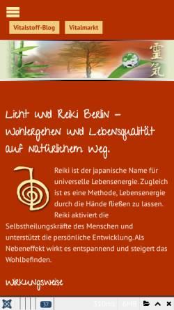 Vorschau der mobilen Webseite www.licht-und-reiki.de, Andre Cannella / Sylvia Böttcher
