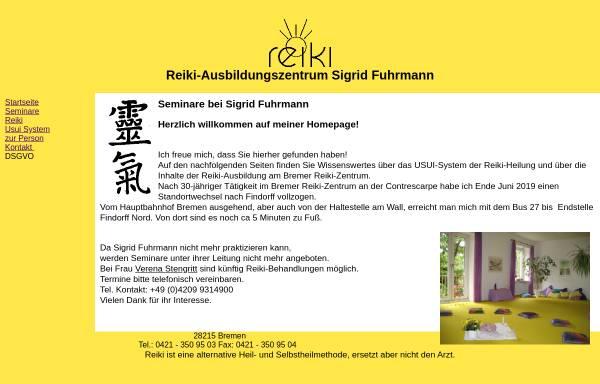 Vorschau von www.reikibremen.de, Reiki-Ausbildungszentrum Sigrid Fuhrmann