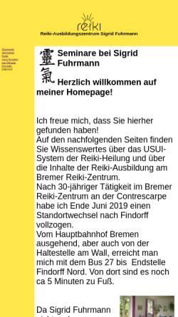 Vorschau der mobilen Webseite www.reikibremen.de, Reiki-Ausbildungszentrum Sigrid Fuhrmann