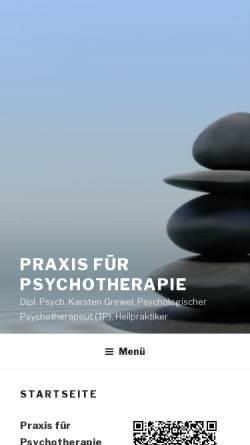 Vorschau der mobilen Webseite www.grewel.de, Dipl. Psych. Karsten Grewel