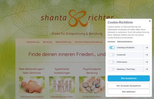 Vorschau von www.shanta-richter.de, Shanta Richter